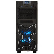 Корпус ATX BoxIT 4701BU без БП/12cm blue LED fan/CardReader/2xUSB3.0/2xUSB2.0/black
