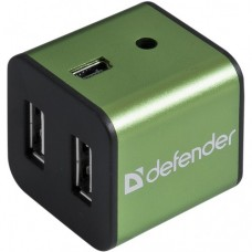 Разветвитель USB 2.0  DEFENDER QUADRO IRON USB2.0, 4 порта, метал. корпус